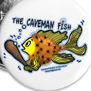 Caveman Fish - Small Buttons