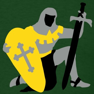 knight kneeling medieval T-Shirts - Men's T-Shirt