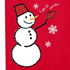 let_it_snow_snowflakes_white_201 Kids' Shirts