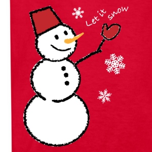 let_it_snow_snowflakes_white_201 Kids' Shirts - Kids' T-Shirt