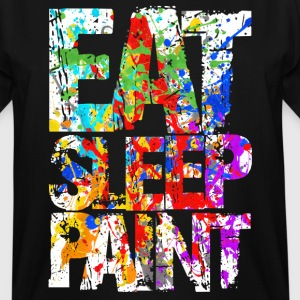 Eat Sleep Painting - Men's Tall T-Shirt