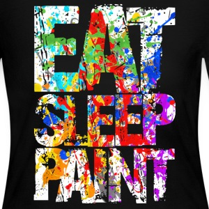 Eat Sleep Painting - Women's Long Sleeve Jersey T-Shirt