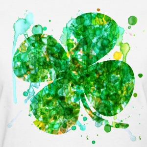St. Patricks Day Clover - Women's T-Shirt