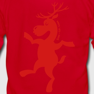Christmas Reindeer Exercising Zip Hoodies/Jackets - Unisex Fleece Zip Hoodie by American Apparel