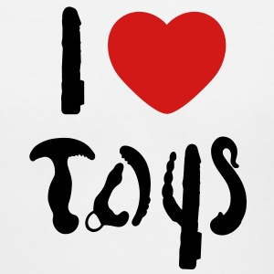I love toys Women's T-Shirts - Women's V-Neck T-Shirt