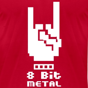 8 Bit Metal - Men's T-Shirt by American Apparel