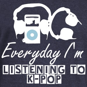 Everyday I'm listening to K-POP Womens Wideneck Sweatshirt - Women's Wideneck Sweatshirt