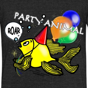 Party Animal Fish - Sparky Range T-shirt - Unisex Tri-Blend T-Shirt by American Apparel
