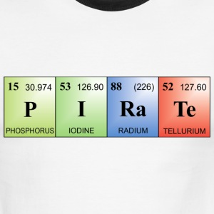 Pirate written with elements of the periodic table T-Shirts - Men's Ringer T-Shirt
