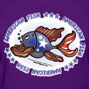 AMERICAN FISH, RED WHITE BLUE FISH, Jeans fish   - Women's T-Shirt
