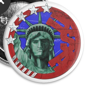 USA United States of America Tribute Buttons - Large Buttons