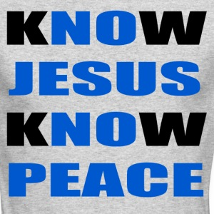 knowjesusknowpeace Long Sleeve Shirts - Men's Long Sleeve T-Shirt by Next Level