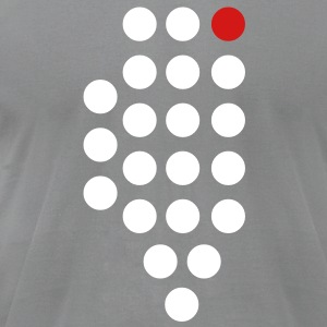 Chicago, IL - Abstract Dots T-Shirts - Men's T-Shirt by American Apparel