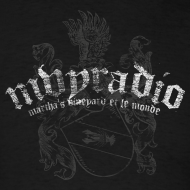 Design ~ mvyradio Heraldic logo w/ lobster on shield (with French