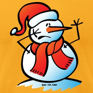 Worried Snowman T-Shirts - Men's T-Shirt by American Apparel