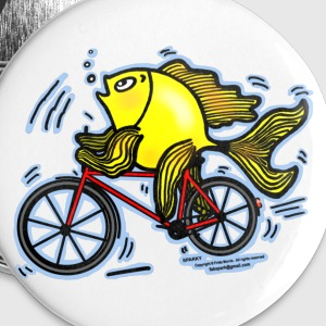 Bicycle Fish  - Large Buttons