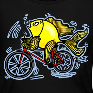 Bicycle Fish , Fish riding a Bicycle  - Women's Long Sleeve Jersey T-Shirt