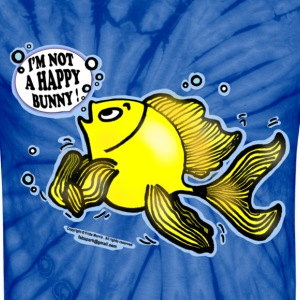 Not a Happy Bunny Fish - Unisex Tie Dye T-Shirt