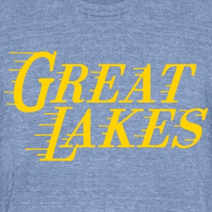 Great Lakes T-Shirts - Unisex Tri-Blend T-Shirt by American Apparel