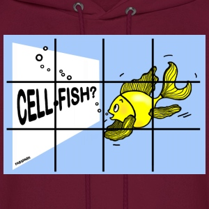 CellFish, Cell Fish, Fish in a Cell  - Men's Hoodie
