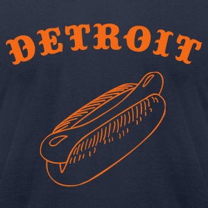 Detroit Ballpark Dog - Men's T-Shirt by American Apparel
