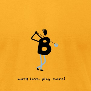 Golf - work less. play more. - Men's T-Shirt by American Apparel