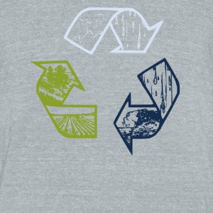 Vintage Recycle Tee - Unisex Tri-Blend T-Shirt by American Apparel
