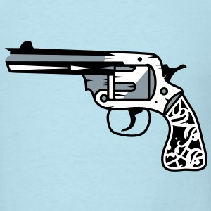 old revolver with ornamental decorations on the grip T-Shirts - Men's T-Shirt