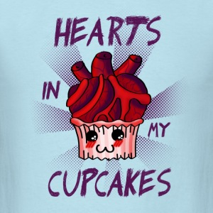 Hearts in my Cupcakes (light) T-Shirts - Men's T-Shirt
