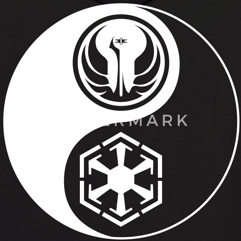 2 Logo - Star Wars The Old Republic - Yin Yang - Men's Hoodie