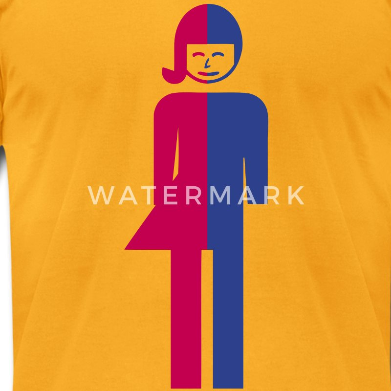 Ladyboy / Tomboy Toilet / Restroom Thai Sign - Men's T-Shirt by American Apparel