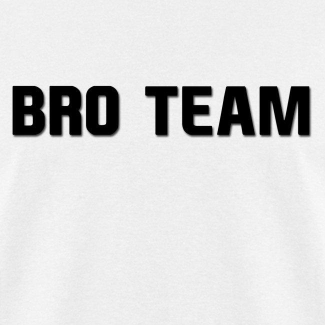 Bro Team Black Words