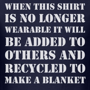 Recycle Shirt to Blanket - Men's T-Shirt