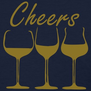 Cheers 3 wine glasses Women's Standard Weight T-Shirt - Women's T-Shirt