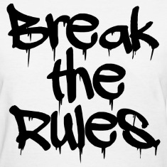 "GIRLS ""Break the Rules"" Tee Black"