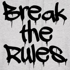GUYS Break the Rules Hoodie Black - Men's Hoodie