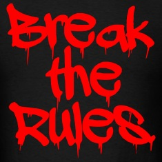 "GUYS ""Break the Rules"" Tee Red"