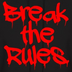 "GUYS ""Break the Rules"" Hoodie Red"