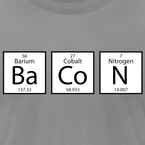Bacon Elements - Men's T-Shirt by American Apparel