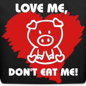love me dont eat me Bags  - Eco-Friendly Cotton Tote