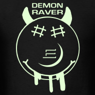 Design ~ Demon Smiley Face Rave Glow in the Dark T-shirt