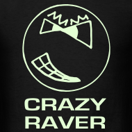 Design ~ Crazy Raver Smiley Face Glow in the Dark T-shirt