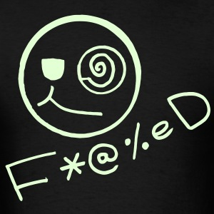 Fucked Smiley Face Glow in the Dark T-shirt - Men's T-Shirt