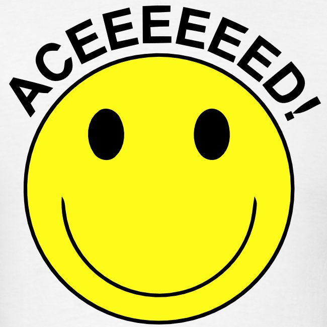 Aceeeed! Smiley Face T-shirt | Men's T-Shirt