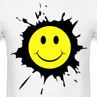 Design ~ Paint Splat Smiley Face T-shirt