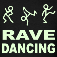 Design ~ Rave Dancing Glow in the Dark T-shirt
