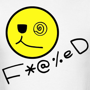 Fucked Smiley Face T-Shirts - Men's T-Shirt
