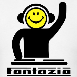 Fantazia Smiley DJ Logo T-Shirts - Men's T-Shirt