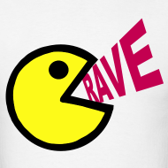 Design ~ Smiley Face Shouting Rave T-shirt