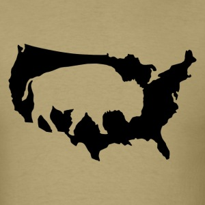 amerika_buffalo T-Shirts - Men's T-Shirt